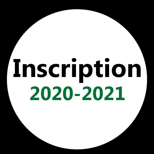 inscription 2020